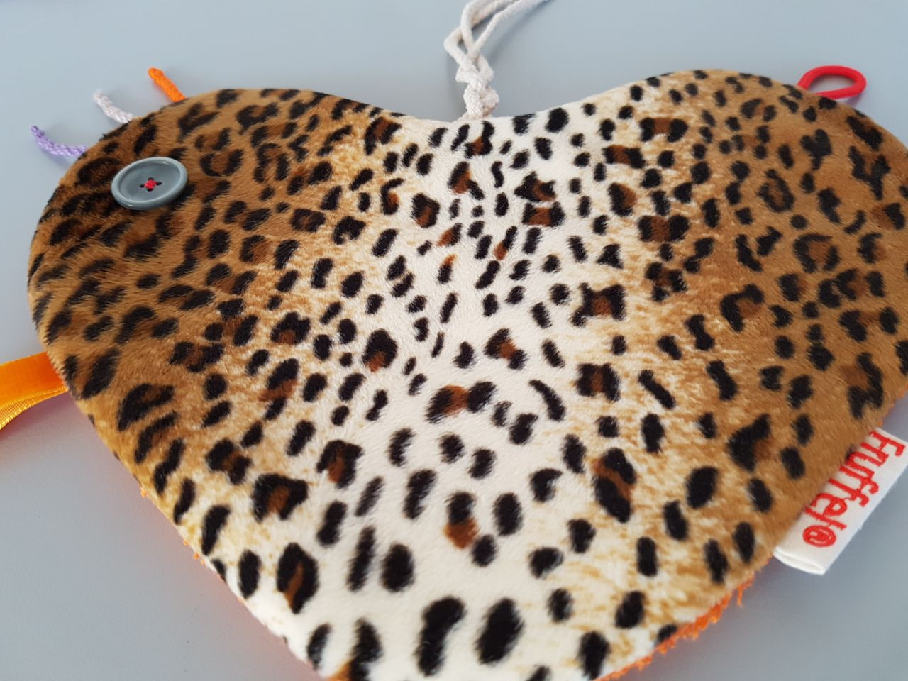 Fruffel tastdoekje Thijs detail voorkant